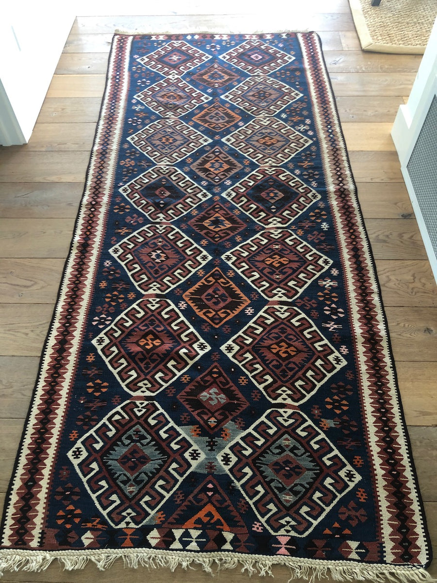 Handmade Turkish Wool Kilim Runner