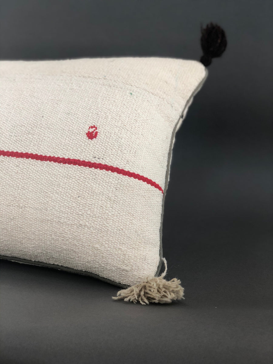 Single Striped Pillow with Tassels