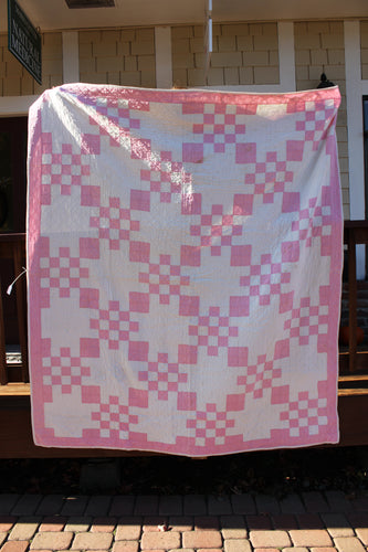 Antique Quilt - Pink & White