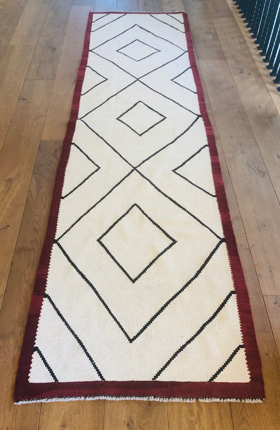 Moroccan Runner with Red Border