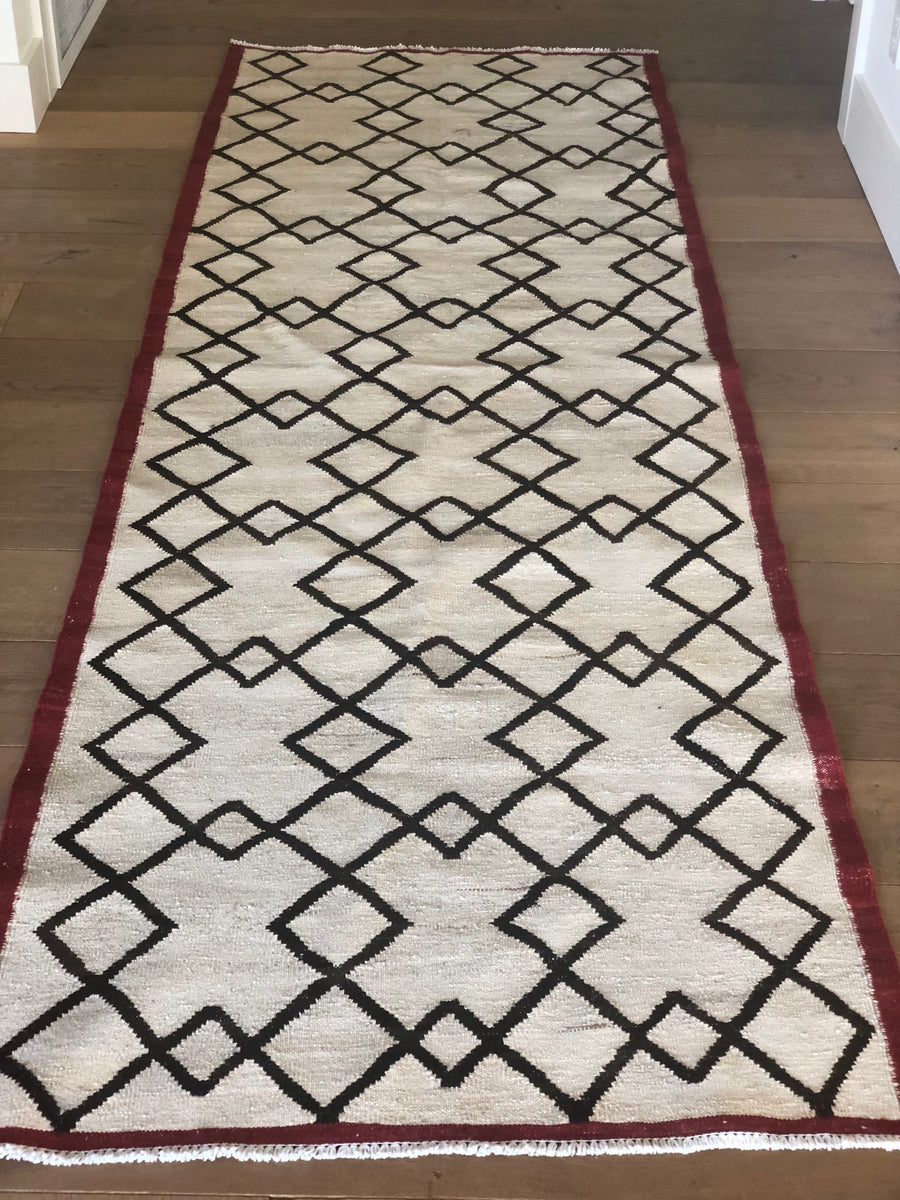 Moroccan Runner with Geometric Pattern