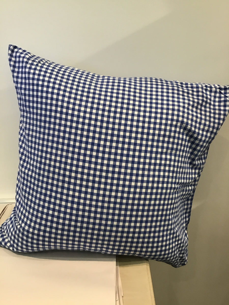 Gingham Pillow | Blue + White