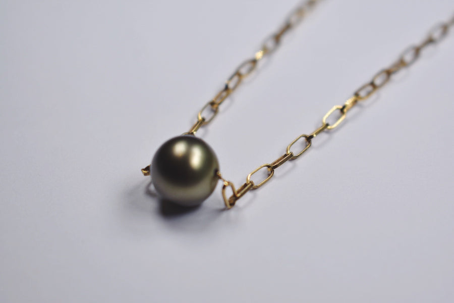 Tahitian pearl 18kt gold necklace