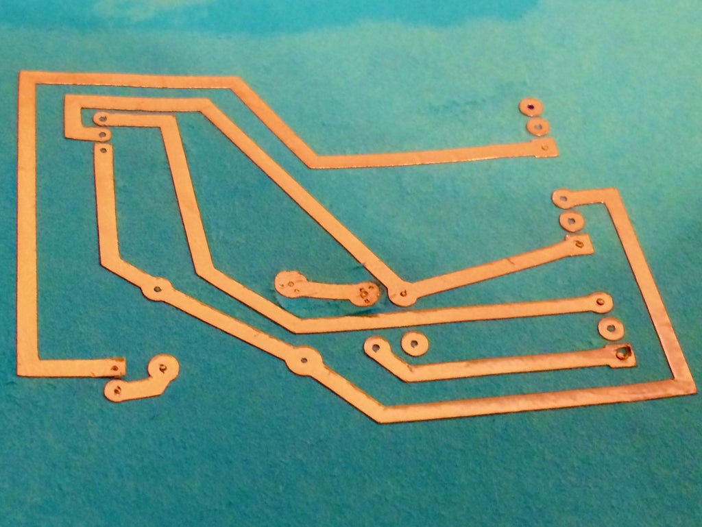 Circuit Experiments: Copper Foil on Paper and Leather
