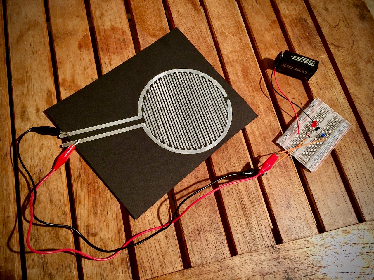 Giant Touch Sensor Circuit with Tin Foil and Silhouette Cameo