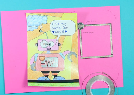 Light-Up Robot Card DIY