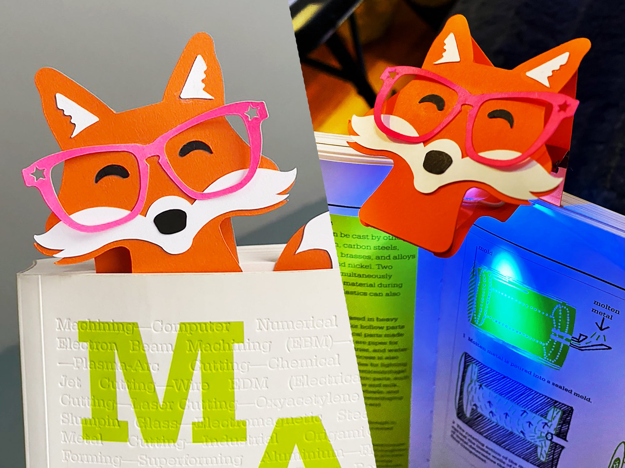 Foxy DIY Book-Light / Bookmark