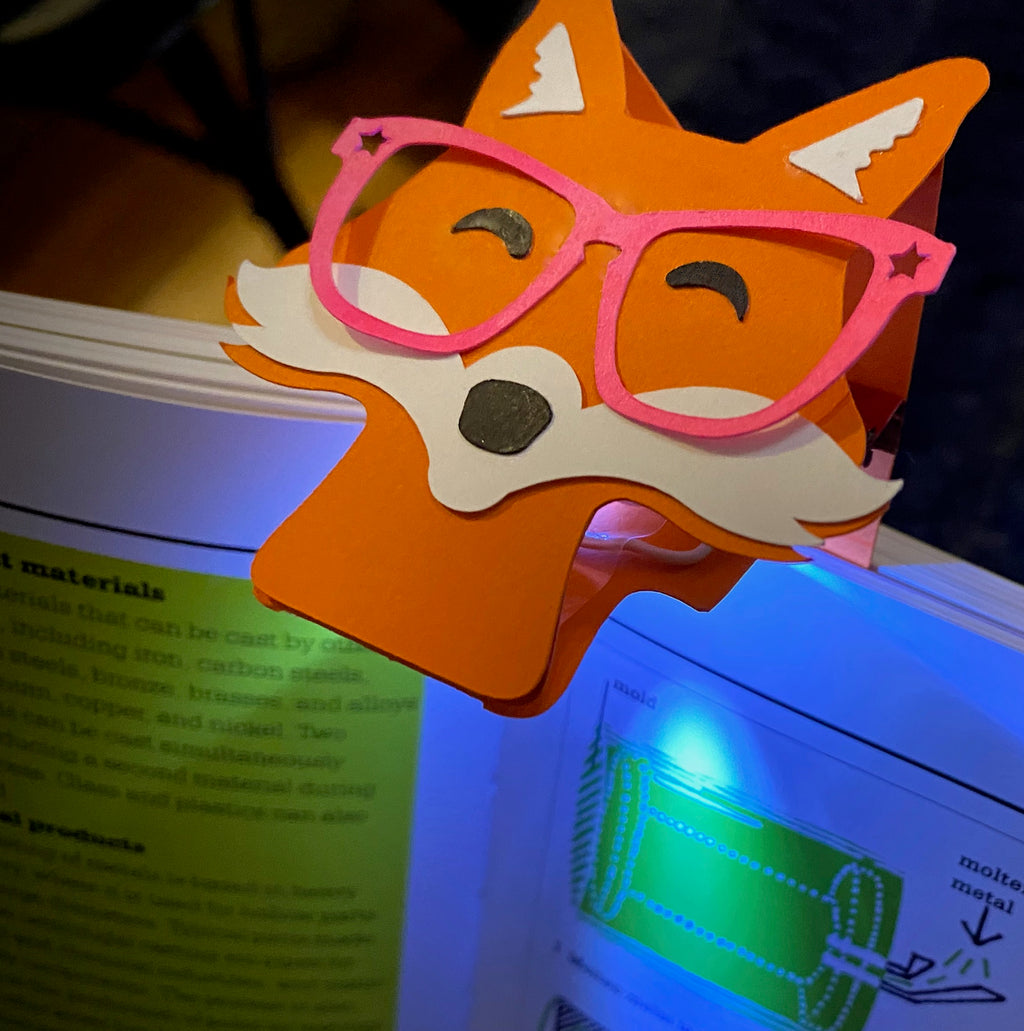 Foxy Book-Light / Bookmark Template .PDF and .SVG