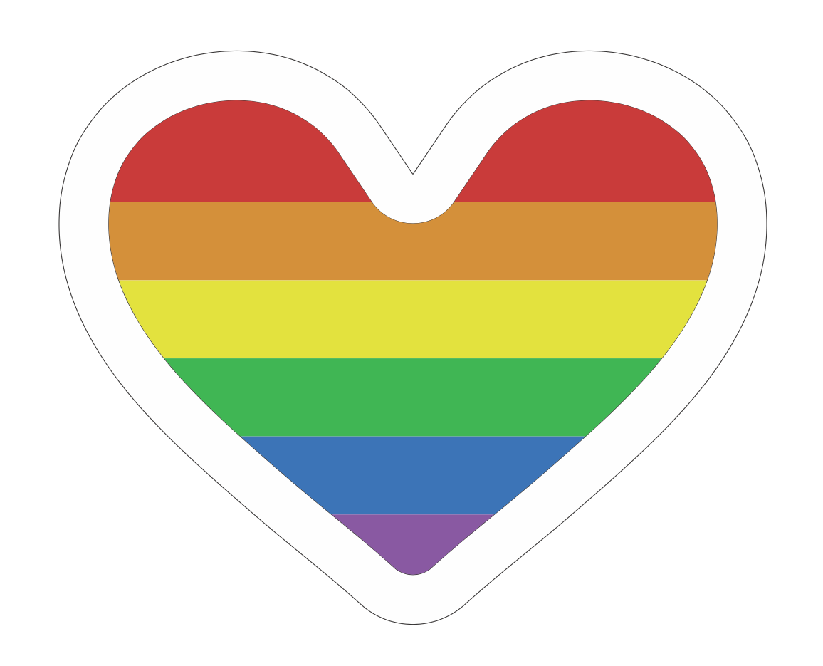 Rainbow Heart .SVG File