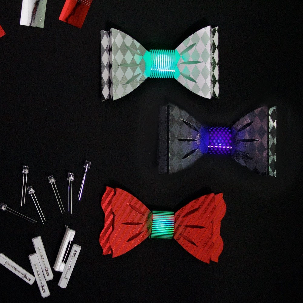 DIY Light Up Blinky Bow Ties Kit - Formal