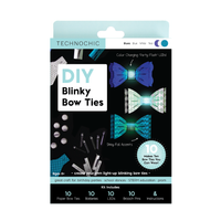 DIY Light Up Blinky Bow Ties Kit - Makes 10 Projects