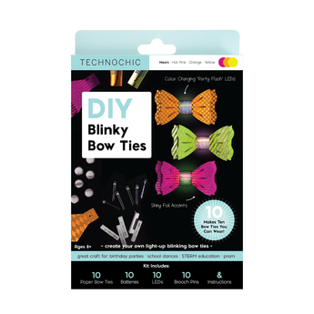 DIY Light Up Blinky Bow Ties Kit - Neon