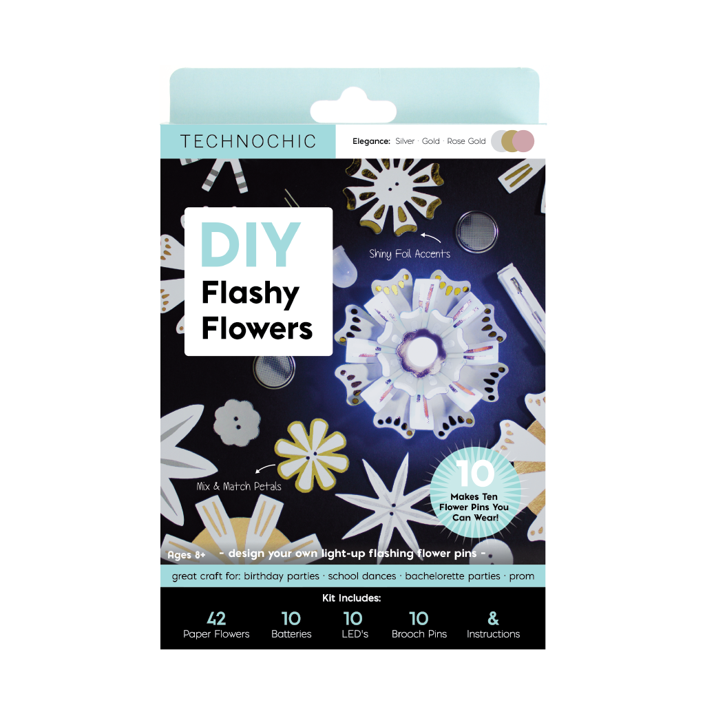 DIY Light Up Flashy Flowers Kit - Elegance