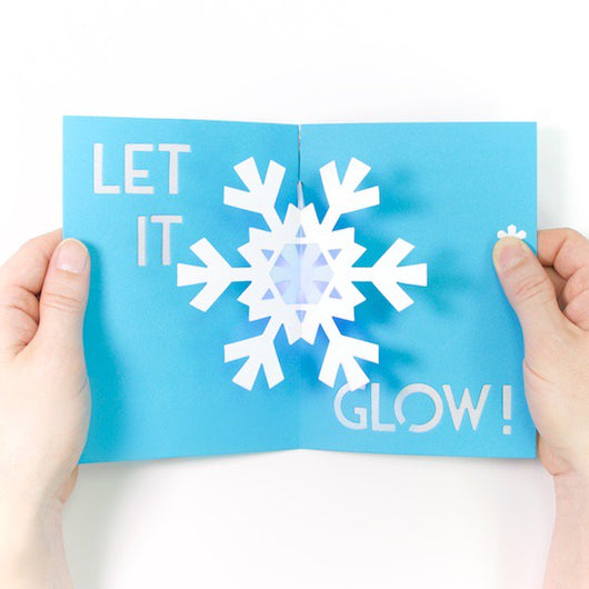 Diy Light Up Pop Up Card Kit Snowflake Technochic