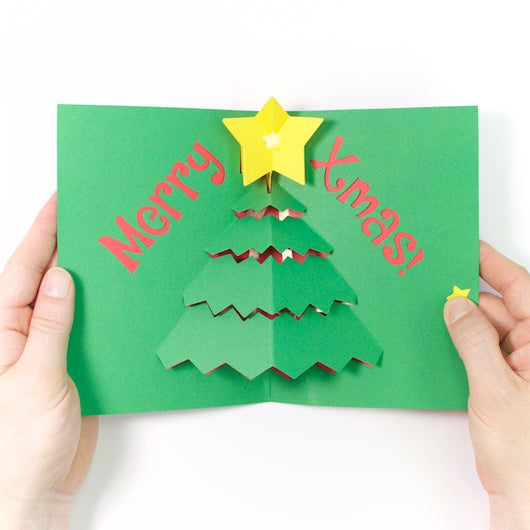 diy light up pop up card kit xmas tree
