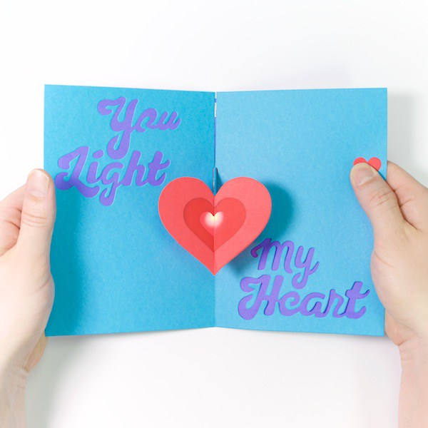 DIY Light-Up Pop-Up Card Kit - Heart