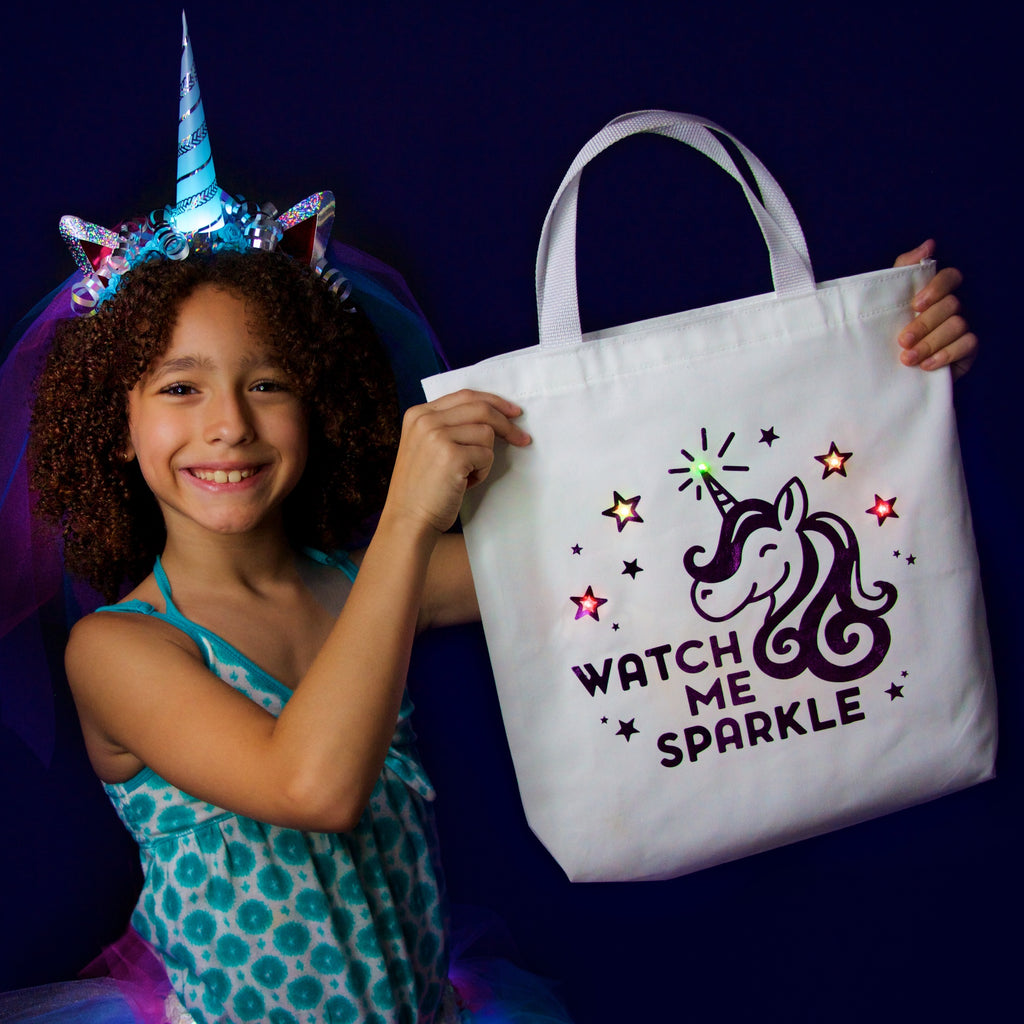 "DIY ""Watch Me Sparkle"" Light-Up Bag Kit"