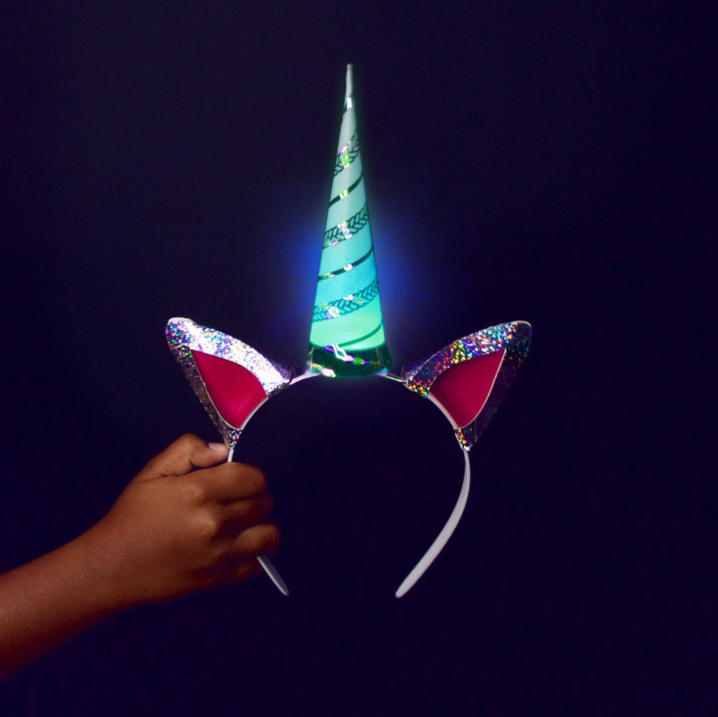"DIY ""Be a Unicorn"" Light-Up Unicorn Headband Kit"