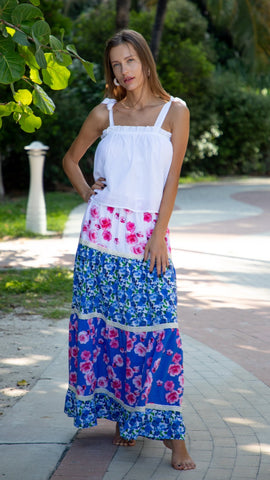 Asuzena Skirt. Multi Flower