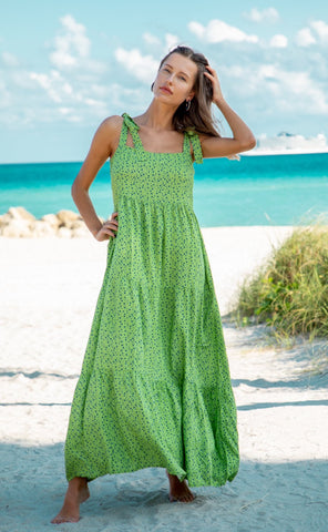 Mariella Maxi Dress. Green