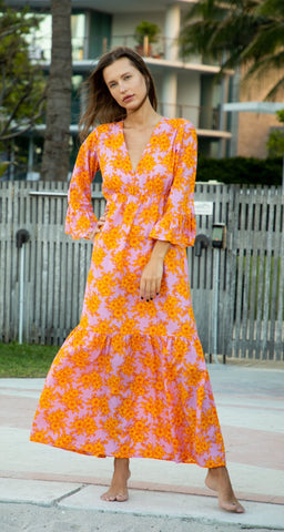 Karla Maxi Dress. Orange