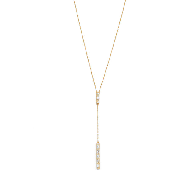 Pavé and Gold Lariat