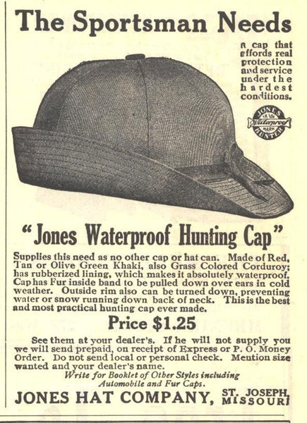 Jones Hunting Cap – a good machine d76828fabe3