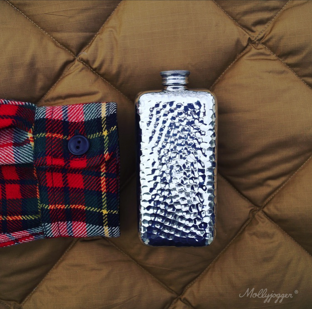 Hammered Pocket Flask