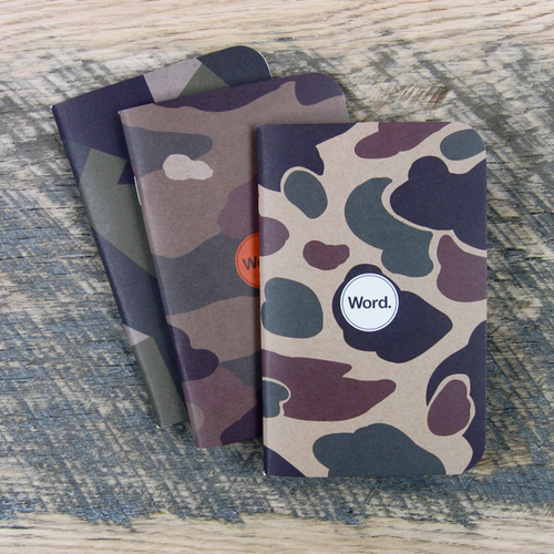 Camo Notebooks 3pk