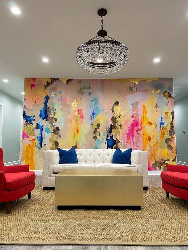 large removable wall mural pastel