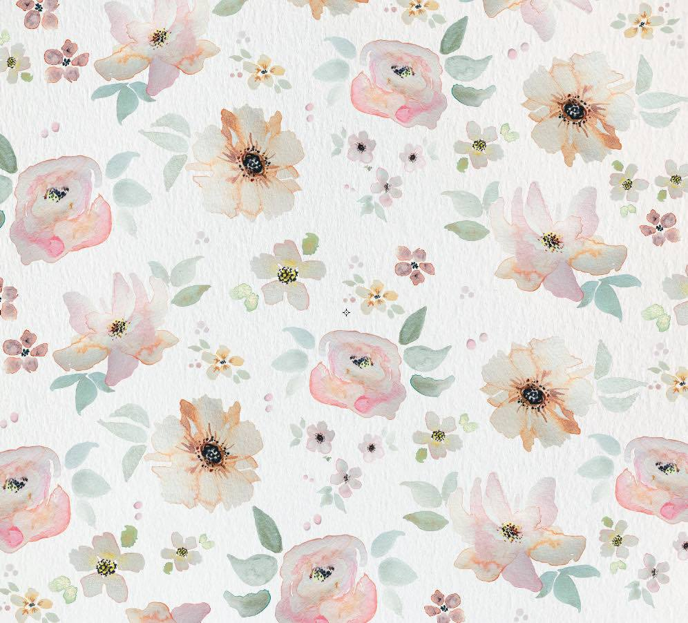 Watercolor floral wallpaper wall mural