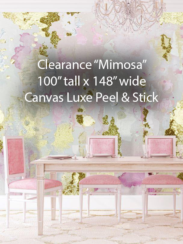 "Clearance ""Mimosa"" Peel & Stick Wall Mural 100"" tall x 148"" wide"
