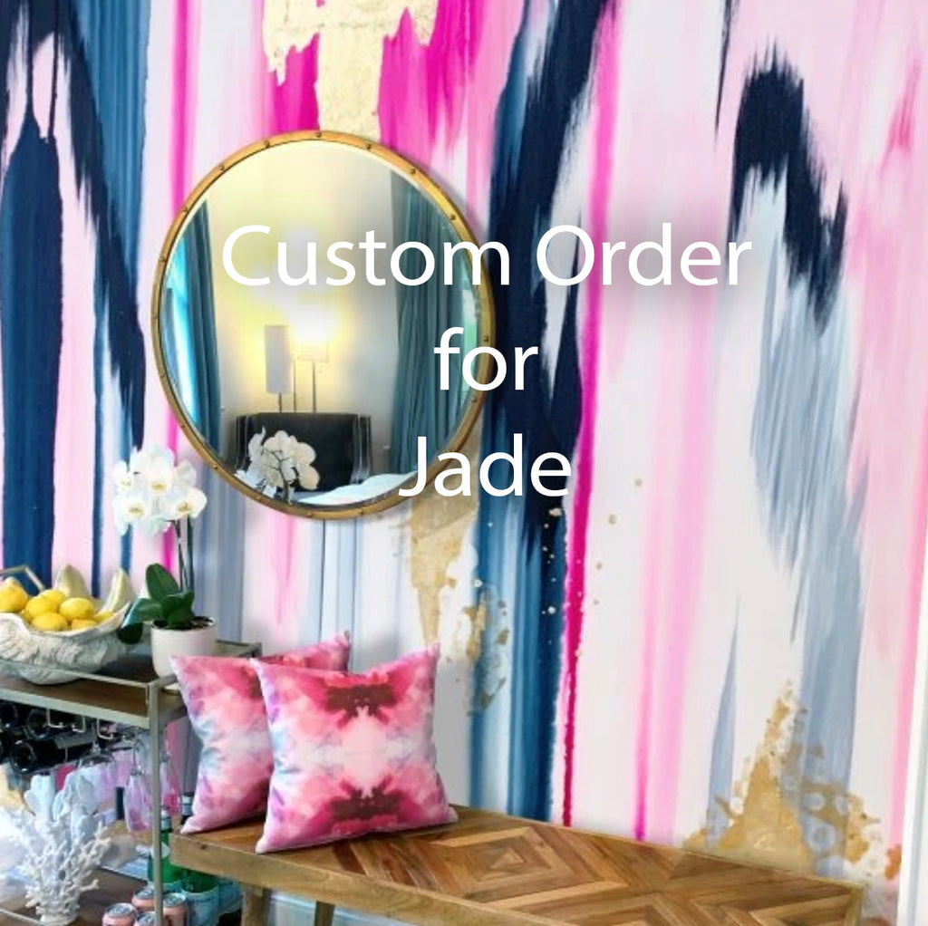 "Custom Plumeria Wall Mural for Jade 56"" wide x 79"" tall"