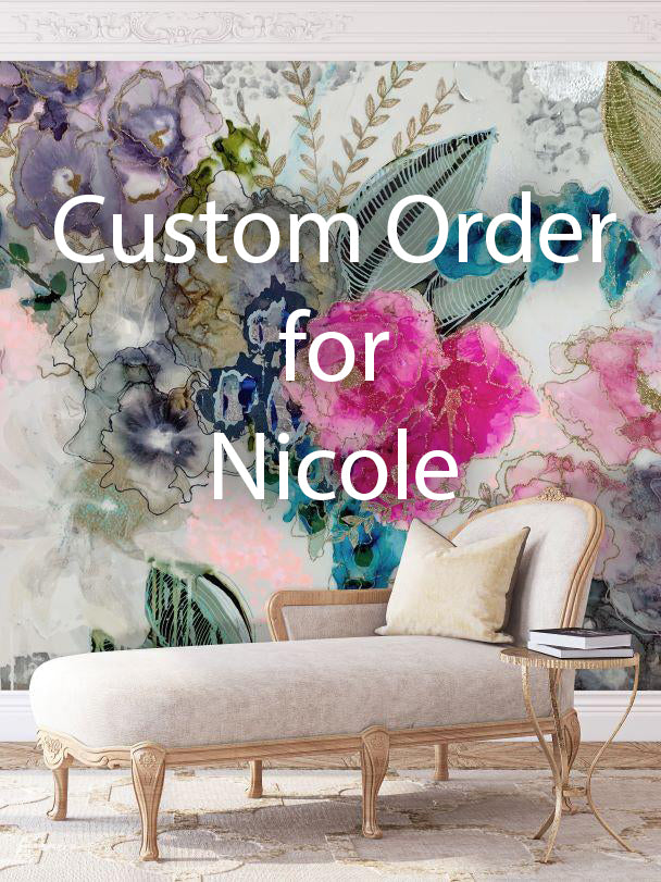 "Custom ""Wisteria"" Wall Mural 10' tall x 11' wide for Nicole"