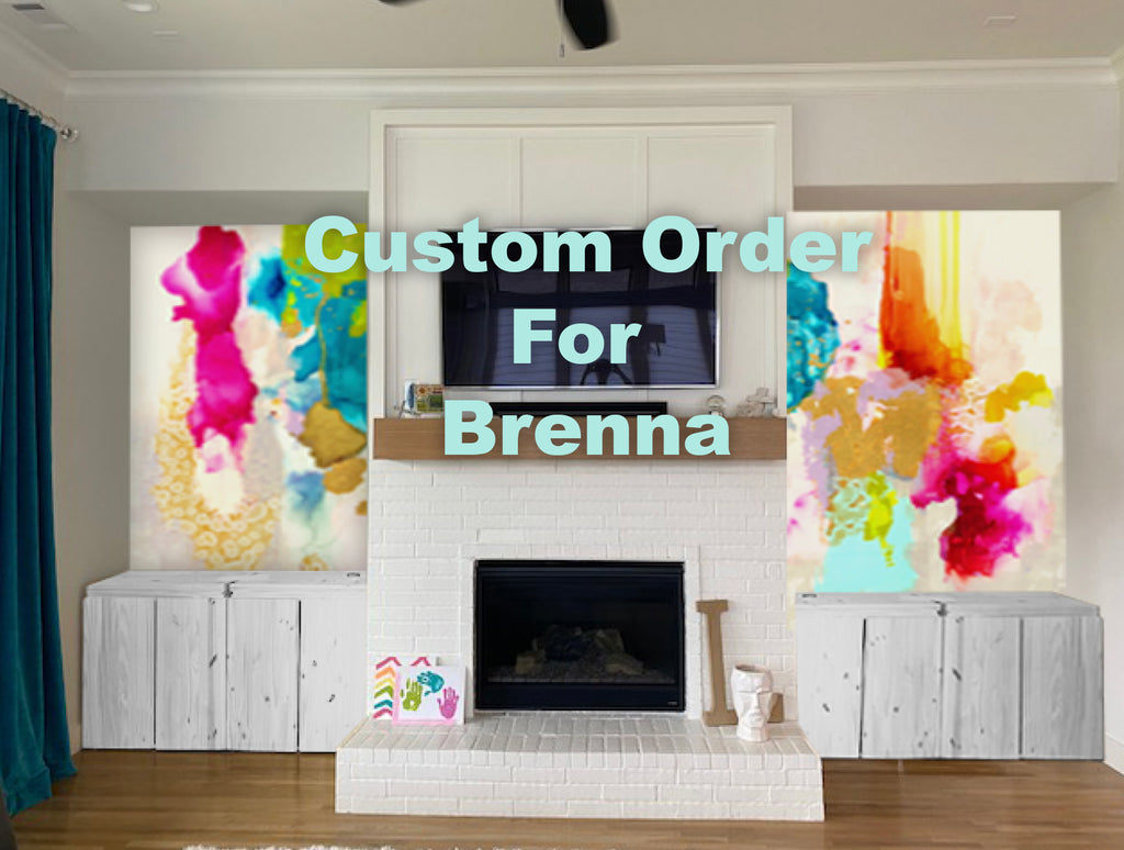 "Custom Platinum Coast Wall Mural Custom Platinum Coast Wall Murals for Brenna 64 ¼""x 114"" H and the right side is 65 ¼""x 114""H"