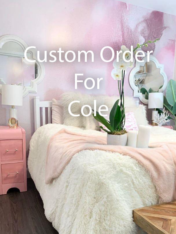 "Custom Pink Mist Wall Mural 12' 4"" wide x 9' tall"