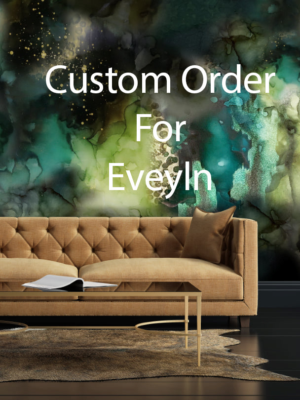 "Custom  ""Dark and Stormy"" Wall Mural 9' tall x 16' wide prepasted"