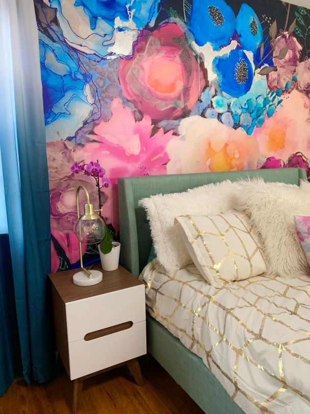 floral removable wallpaper wall mural