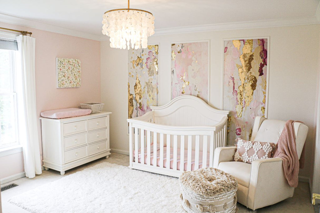 Pink Nursery Wall Mural Panels