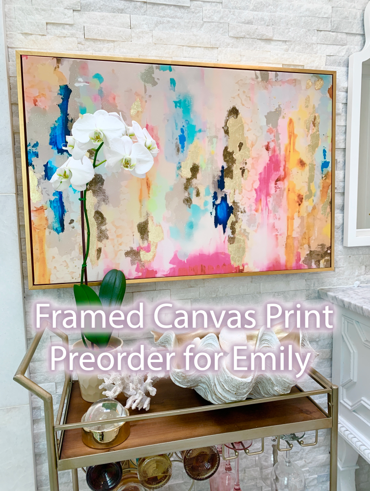 """Coronado"" Canvas Print 24"" Tall x 36"" wide with Gold Floater Frame For Emily"
