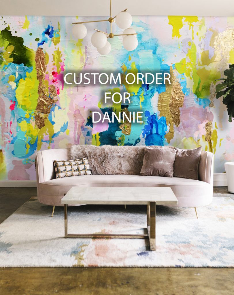 "Custom for Dannie ""Rum Punch"" Wall Mural 170"" L x 135"" H"