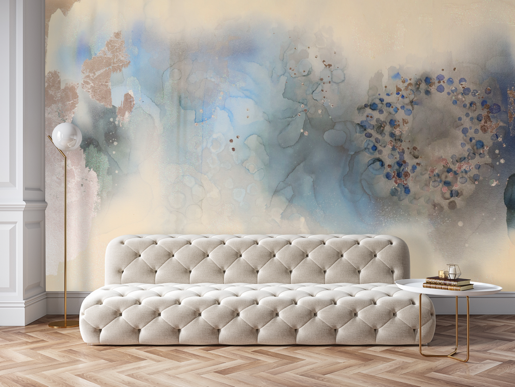 """Blue Pearl"" Wall Mural 8' tall x 12' wide Peel & Stick"