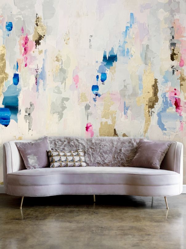Pastel Bold Accent Wall Peel & Stick