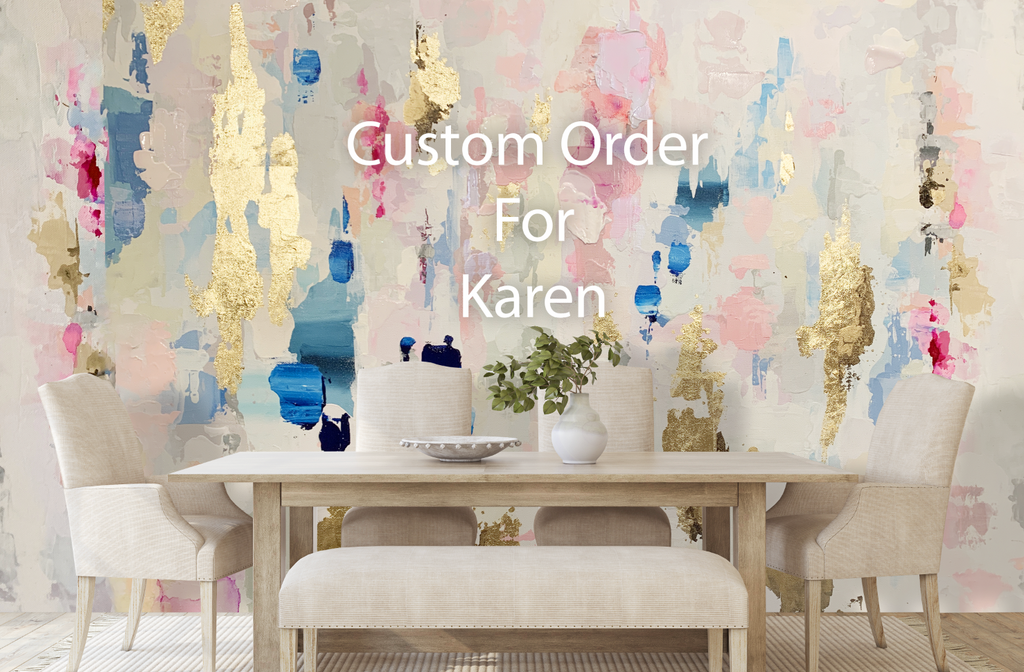 "Custom ""Pebble Beach"" Oversized Wall Mural for Karen 10' tall x 14' wide"