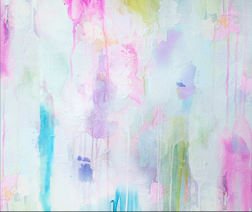 Pastel Abstract Painting Converted into Removable Wallpaper