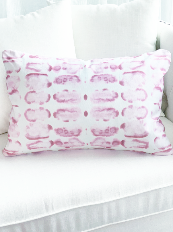 Pink and white decoration pillow for home couch