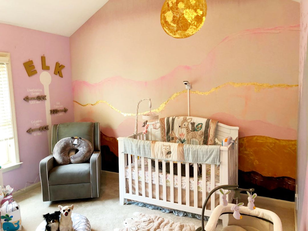 Super Moon Nursery Room Accent Wall Peel and Stick
