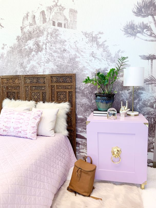 Bedroom accent wall mural