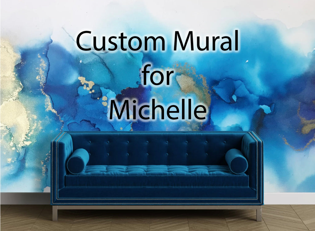 Custom Marina Wall Mural for Michelle 8' tall x 19' wide