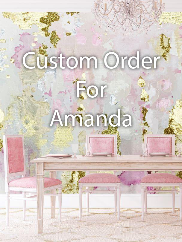 "Custom ""Mimosa"" Wall Mural 6' tall x 13' wide For Amanda"